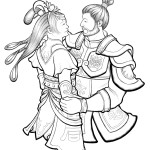 Cai Wenji and Cao Ren share a dance - perhaps to bond over their contemplative, calm demeanor about the sorrows of war.