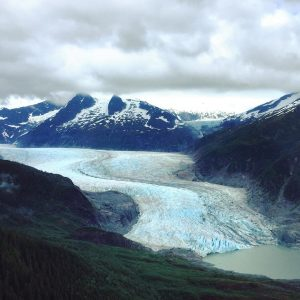 Mendenhall Glacier Aerial View