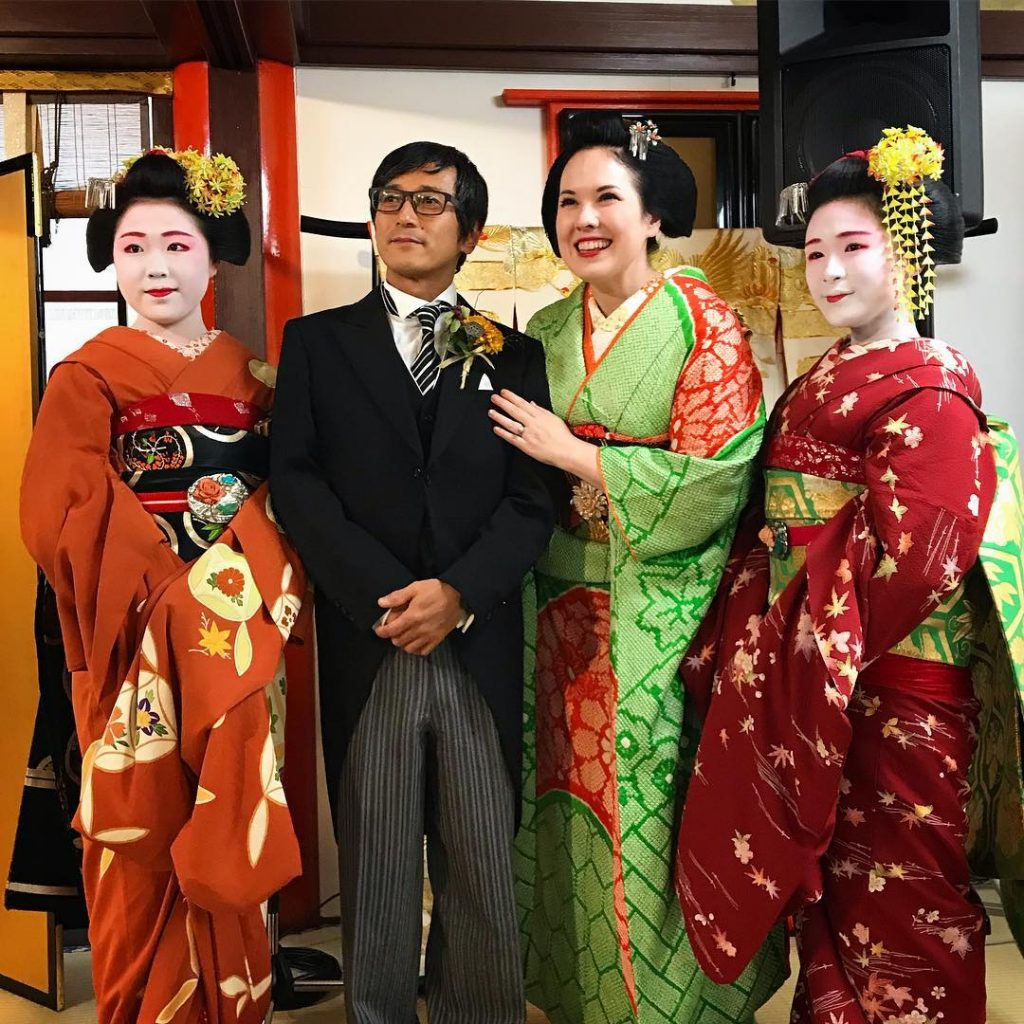 Anna and Toshi with Maiko