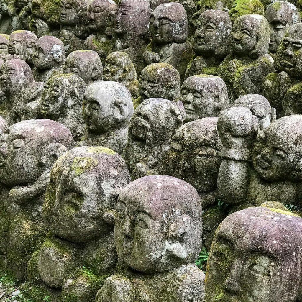Otagi Nenbutsu-ji - Heads Close Up