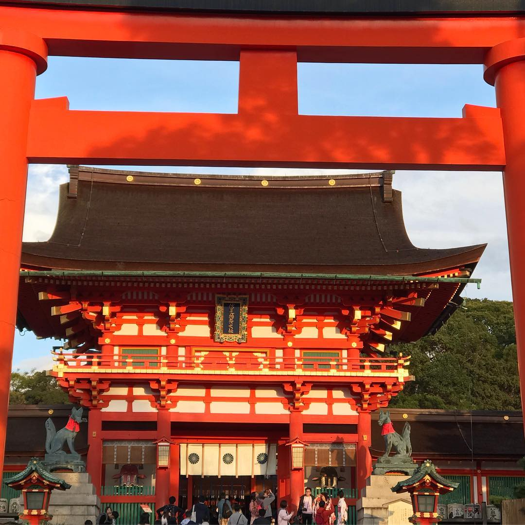 Fushimi Inari - Front View Through Torii