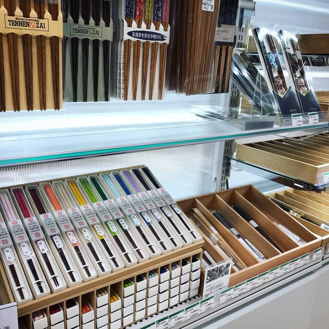 Tokyu Hands Chopsticks Display